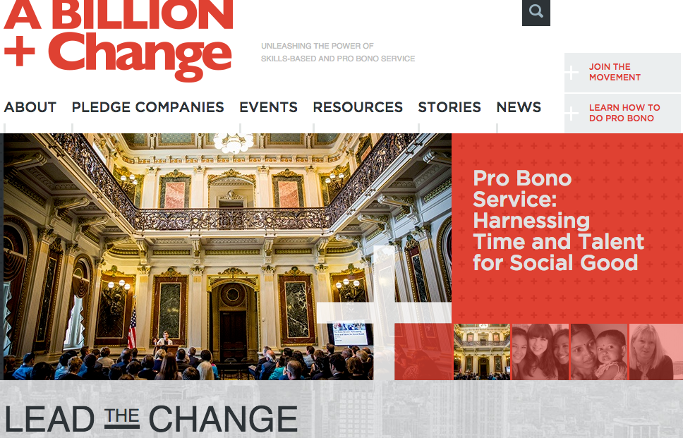 A Billion + Change Web site using JPG Photography's work.