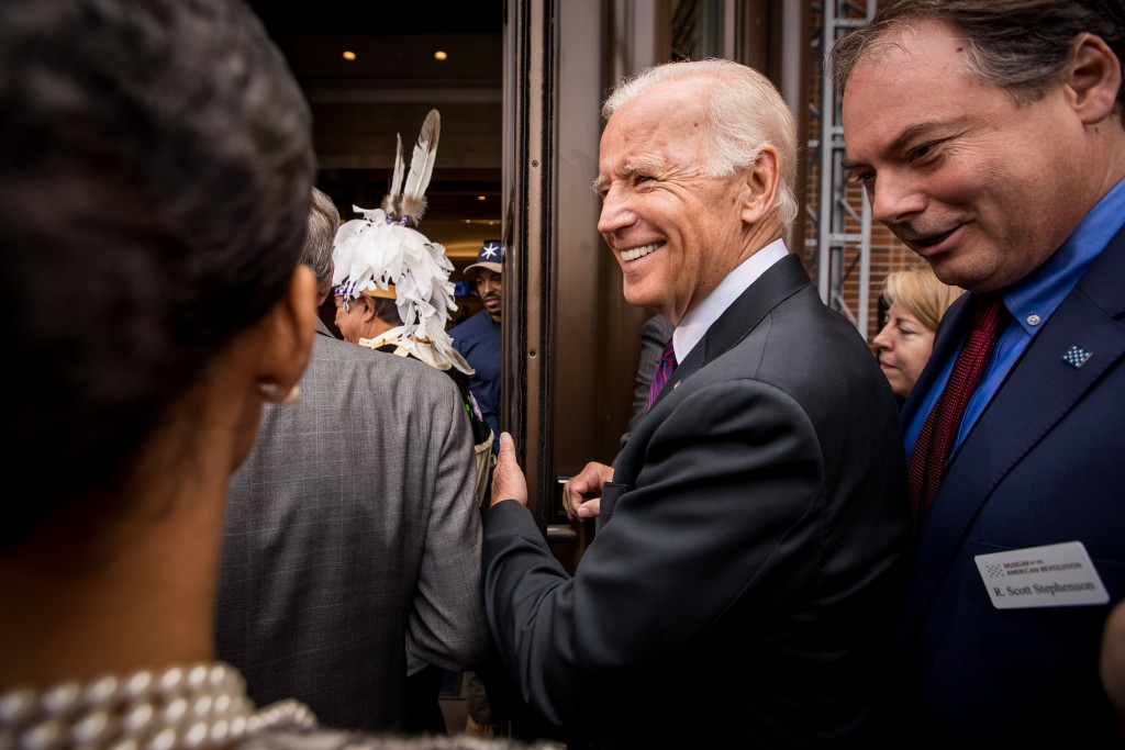 Former Vice President Joe Biden at Museum of American Revolution Opening