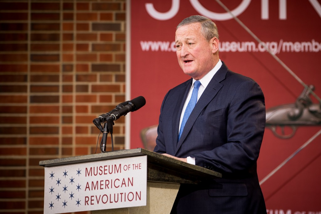 Philadelphia Mayor Jim Kenney at the Museum of American Revolution Opening