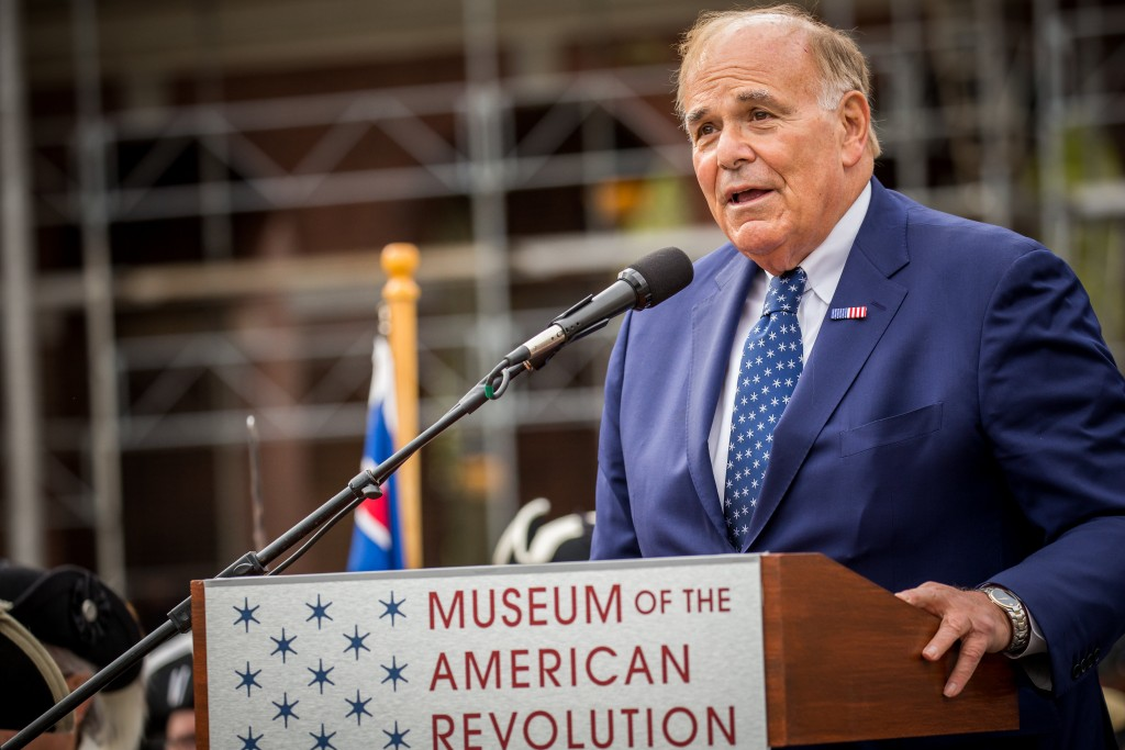 Former PA Governor Ed Rendell at the Museum of the American Revolution opening