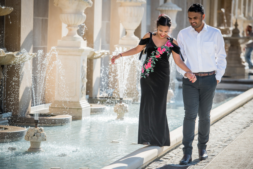 Longwood Gardens Engagement Portrait